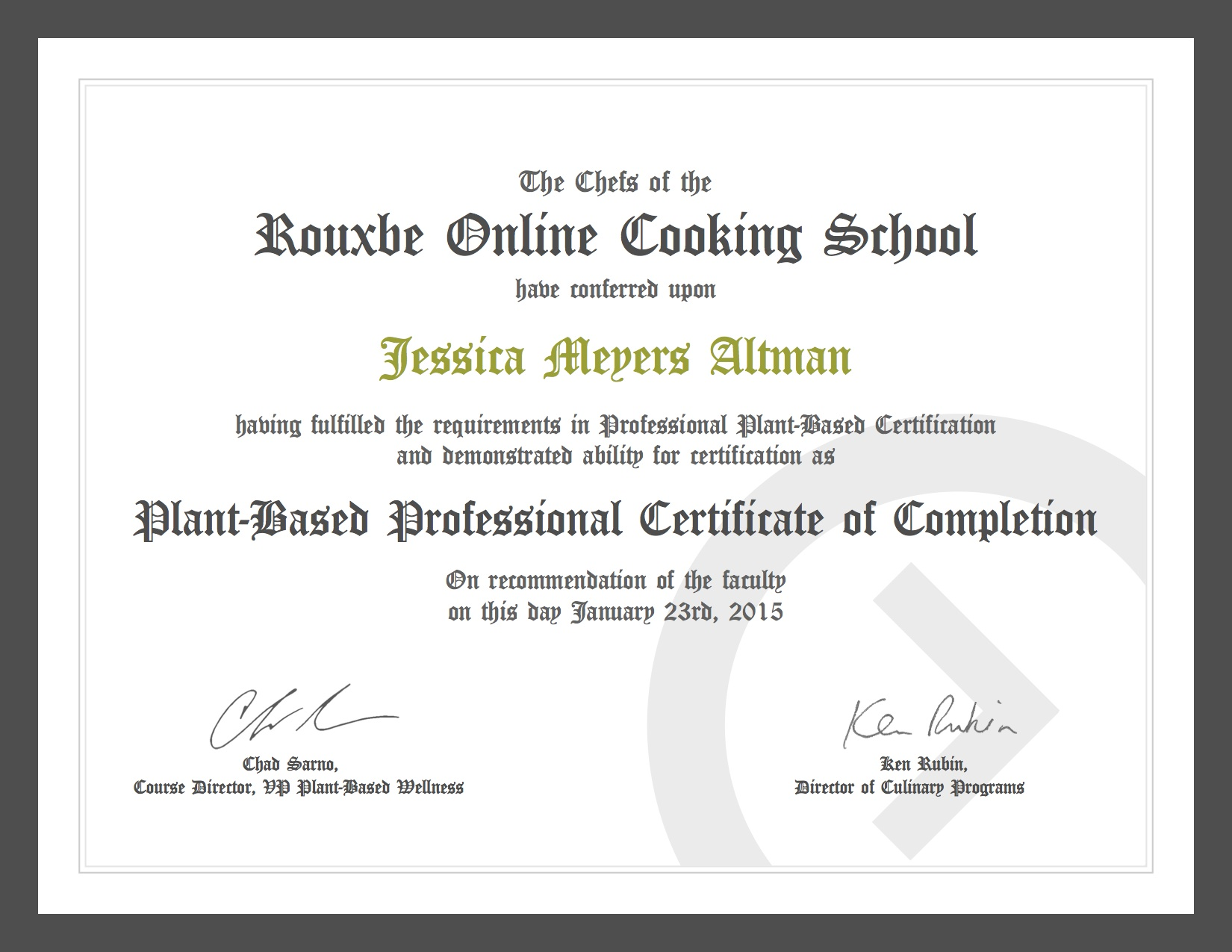 Plant-Based Professional Culinary Certificate From Rouxbe Cooking School