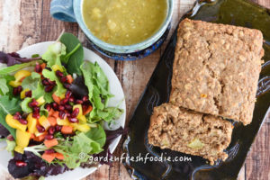 Slice of Gluten Free Cardamon Apple Oatmeal Bread