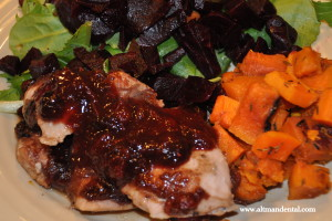 Chicken With Cranberry Sauce & Dried Cherries