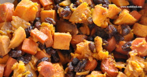 Tzimmis: Carrot, Squash, and Sweet Potatoes With Cinnamon and Raisins