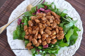 Tooth Food's Vegan BBQ Baked Beans and Greens