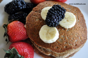 Vegan Banana Oat Pancake Breakfast