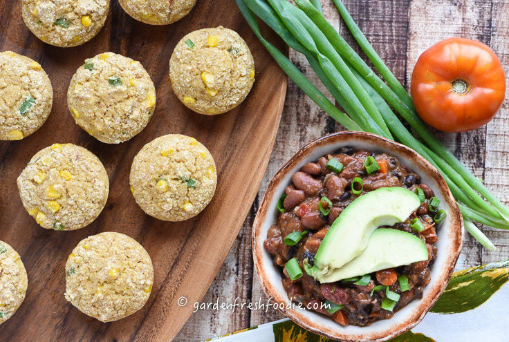 Gluten Free Corn Muffins and Veggie Chili