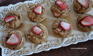 Gluten Free Strawberry Rhubarb Muffins