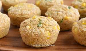 Gluten Free Vegan Corn Muffins With Fresh Corn and Scallions