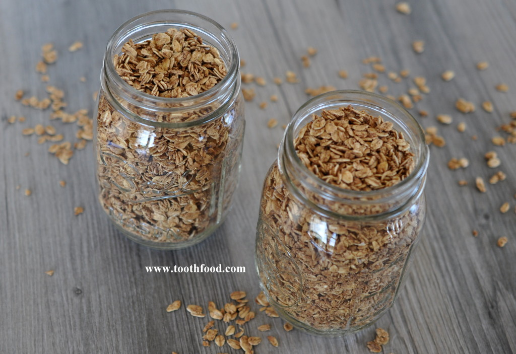 Jars of Maple Granola