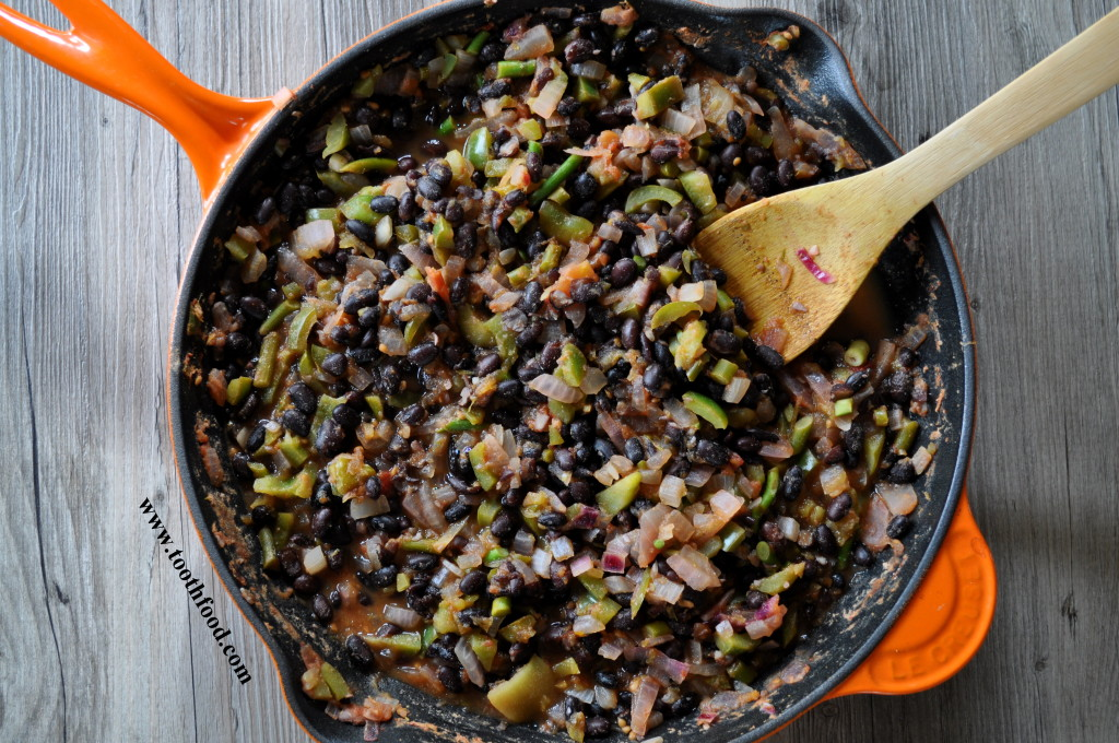 Lime Black Beans With Garlic Scapes