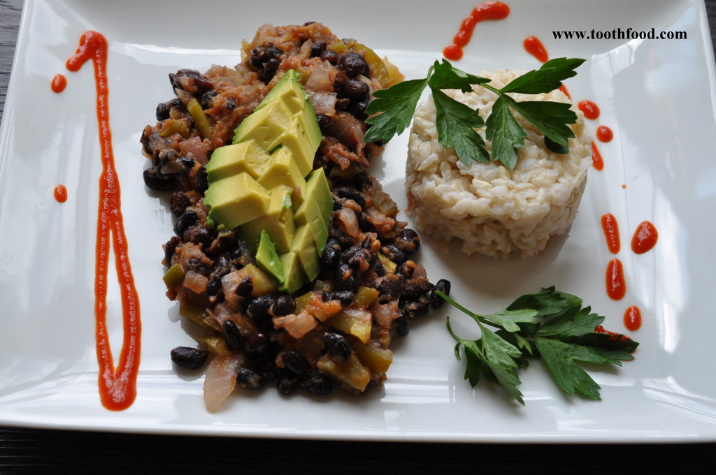 Lime Black Beans and Rice