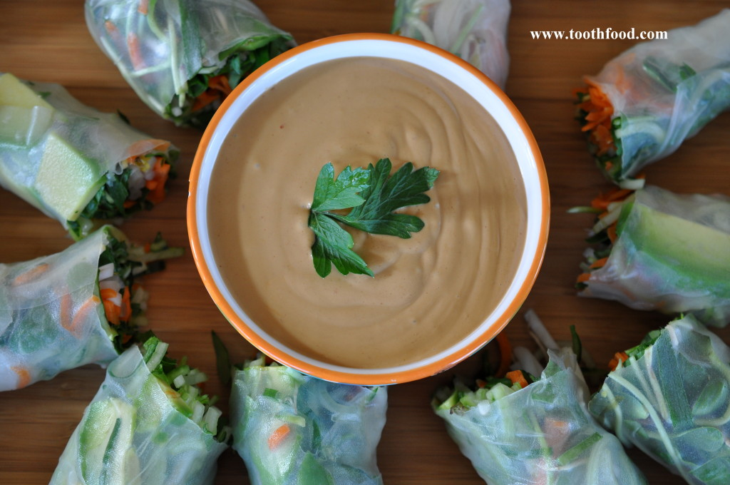 Peanut Dipping Sauce With Rolls
