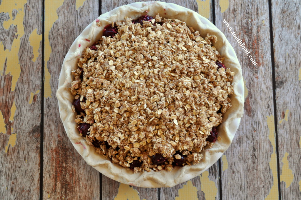 Cherry Pie With Topping Pre-baked