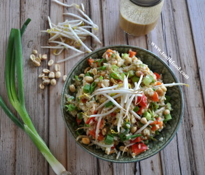 Miso Ginger Rice Salad
