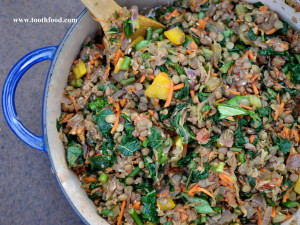 Pot of Summertime Lentils