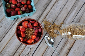 Strawberry Granola Breakfast