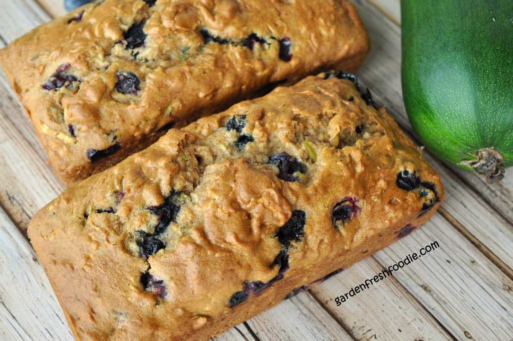 Large Loaves of Blueberry Zucchini Bread