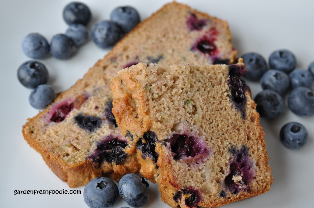 Slice of Zucchini Bread With Blueberries