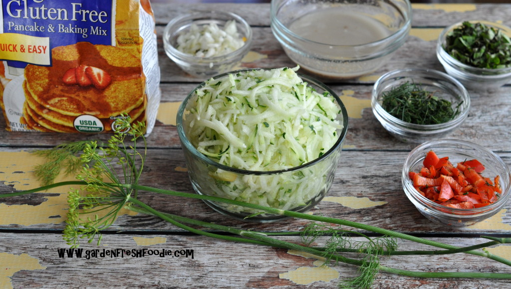 Vegan Zucchini Patties Mise En Place