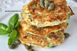 Zucchini Patties Stacked