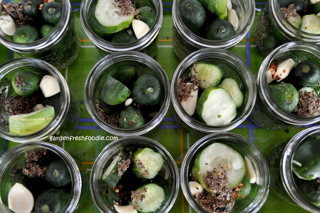 Adding Spices To Pickle Jars