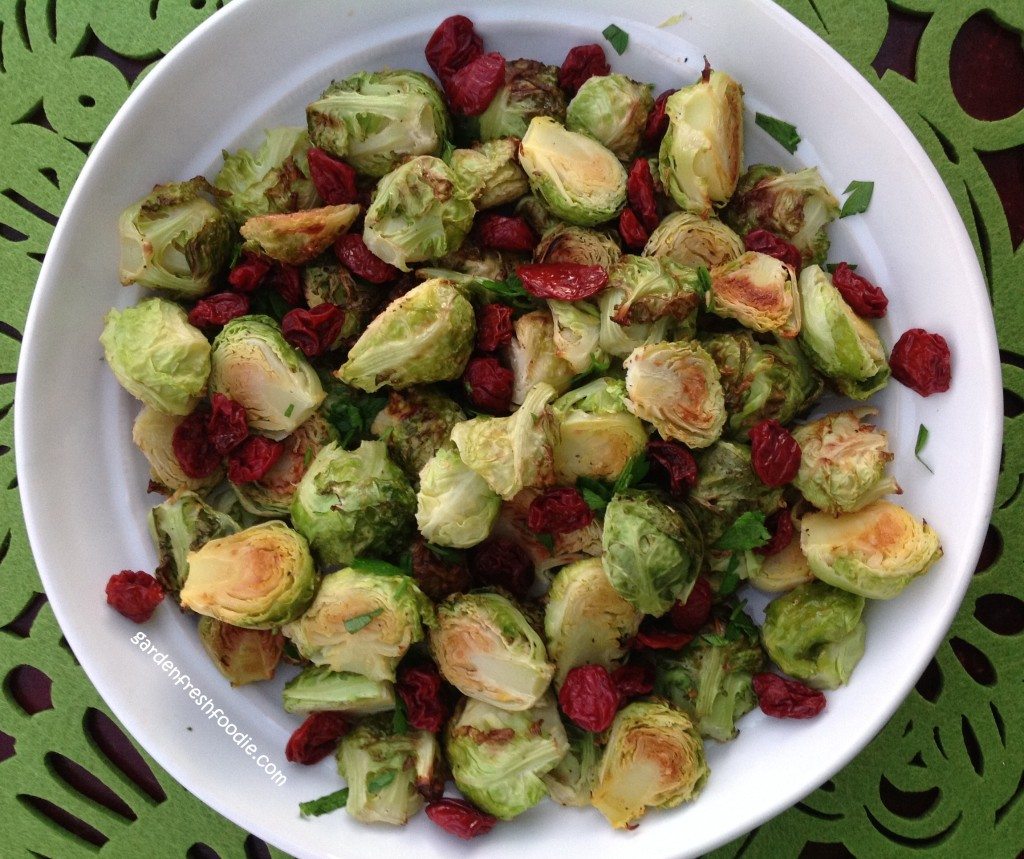 Bowl of Lemon Brussel Sprouts