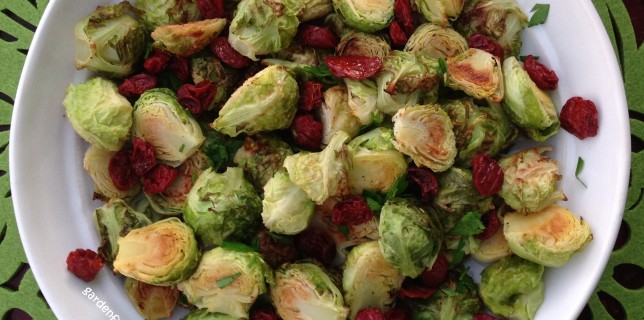 Bowl of Lemon Brussels Sprouts