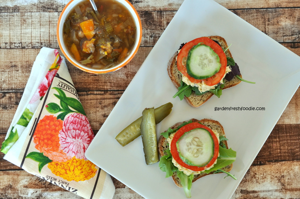 Tuna-less Chickpea Salad Sandwich