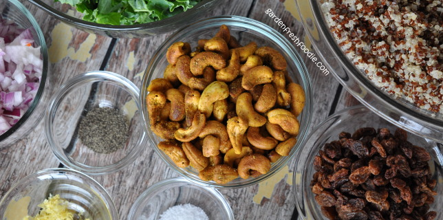 Curried Cashews For Quinoa Salad