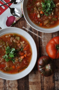 Fall Garden Minestrone Soup