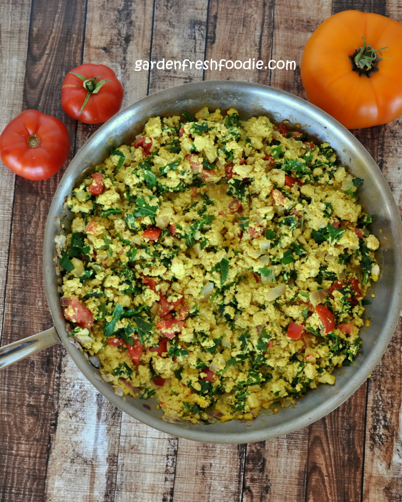 Italian Tofu Scramble In Pan