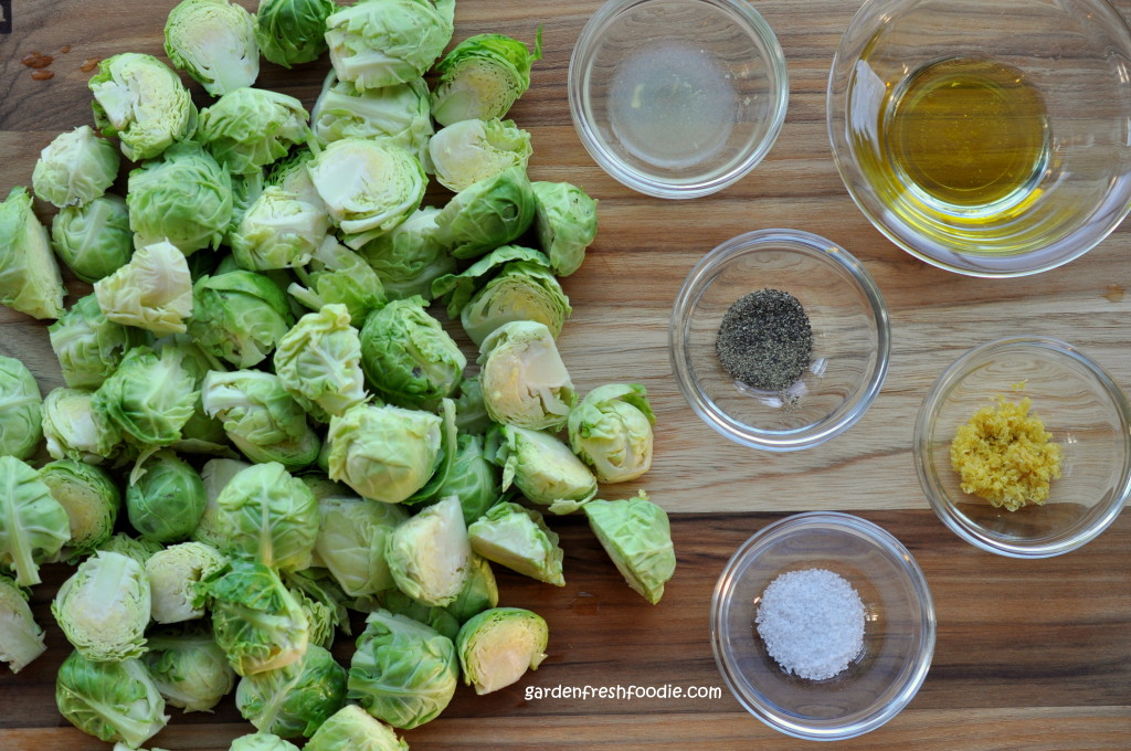 Roasting Brussel Sprouts Mise En Place