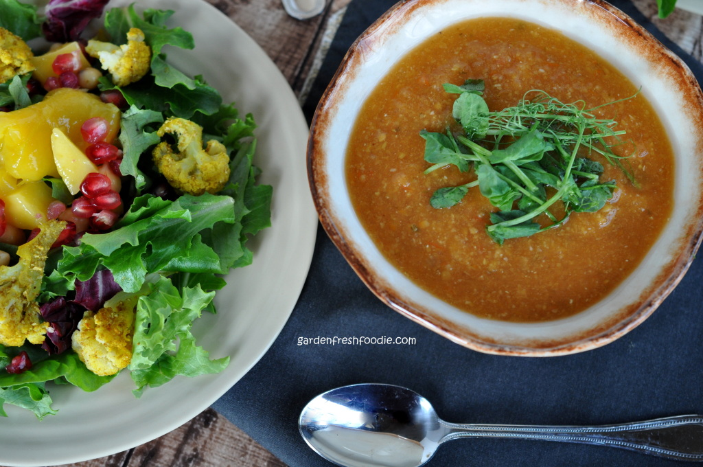 Curried Red Lentil Soup and Salad