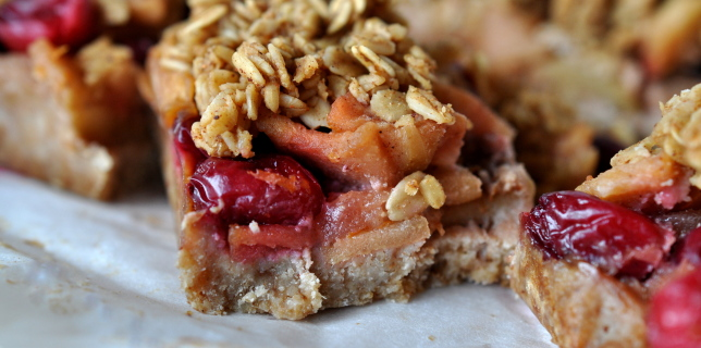 Gluten Free & Plant-Based Apple Cranberry Bar