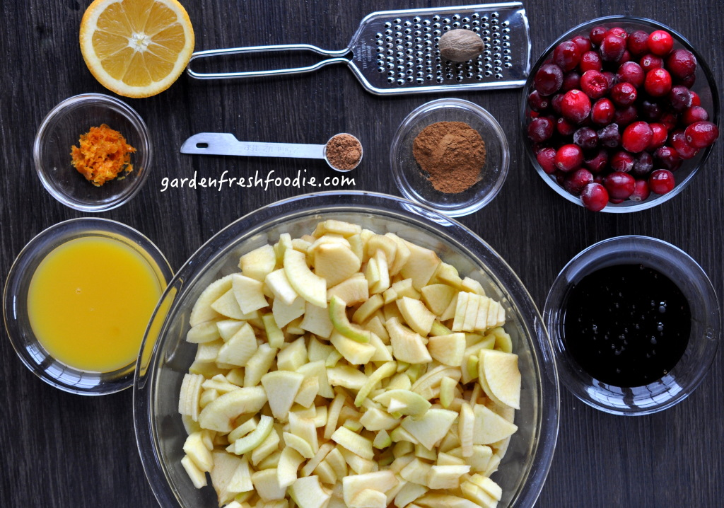 Apple Cranberry Bar Mise en Place Mise en Place