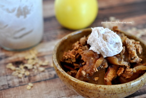 Maple Apple Cobbler