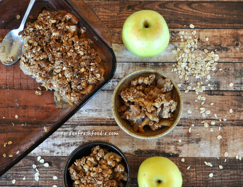 Bowls of Apple Cobbler