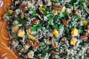 Quinoa and Lentil Salad With Roasted Butternut Squash