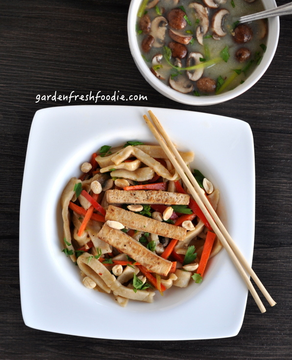 Yaki Udon and Gingered Miso Soup