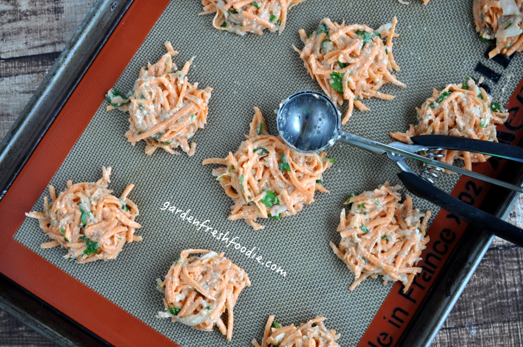 Creating Indian Spiced Sweet Potato Latkes