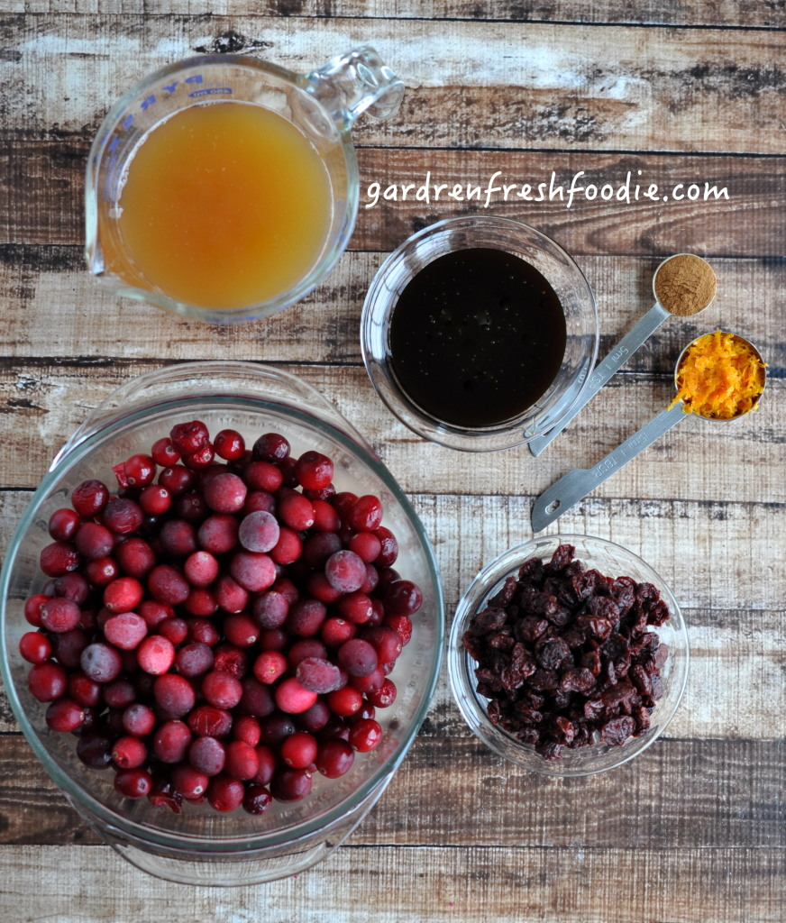 Dried Cherry Cranberry Sauce Mise En Place
