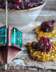 Indian Spiced Latkes With Dried Cherry Cranberry Sauce