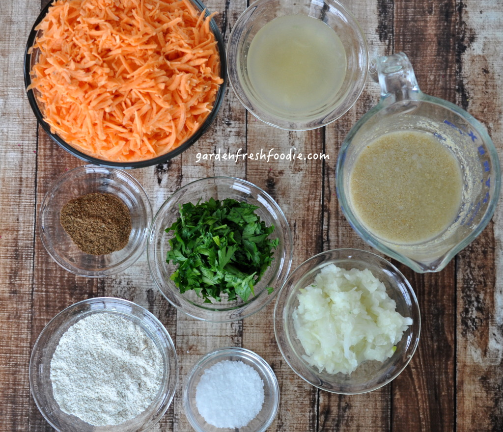Indian Spiced Sweet Potato Latkes Mise En Place