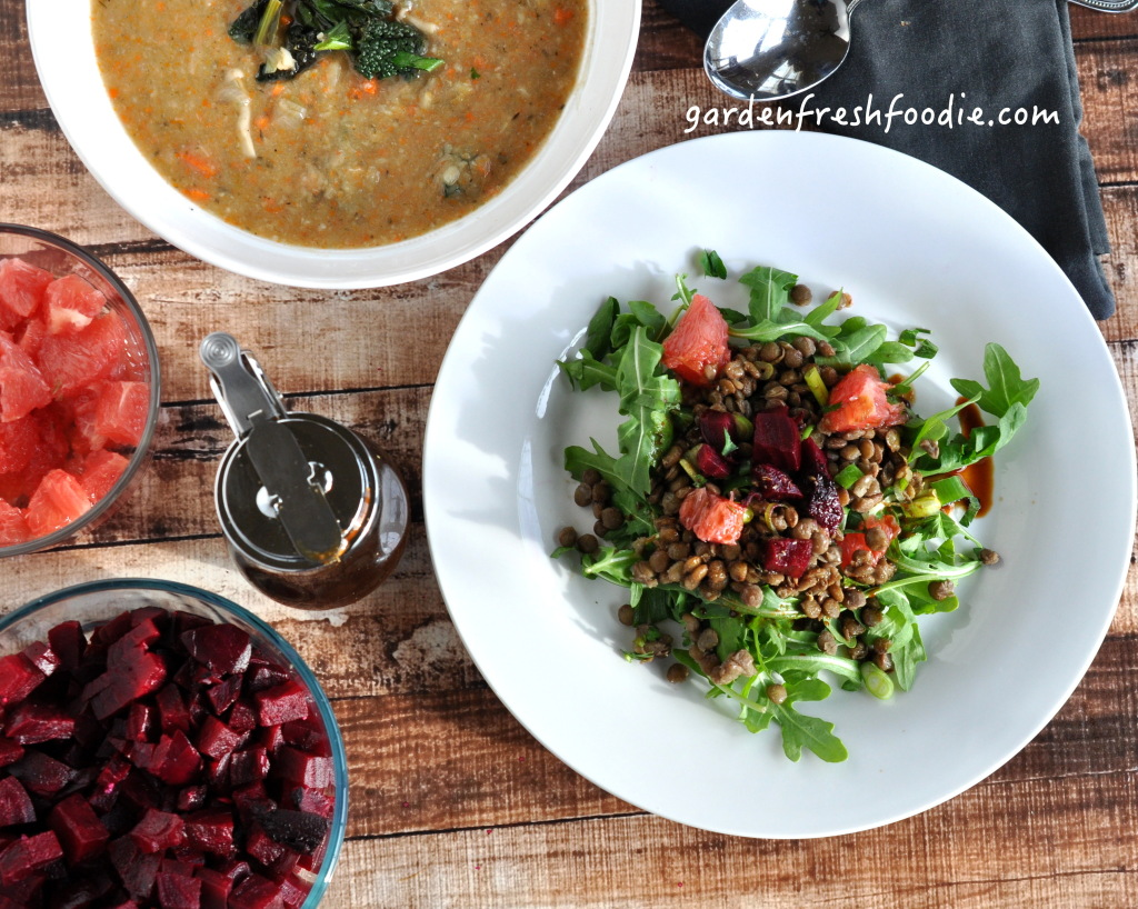 Lentil Salad With Creamy White Bean and Sage Soup