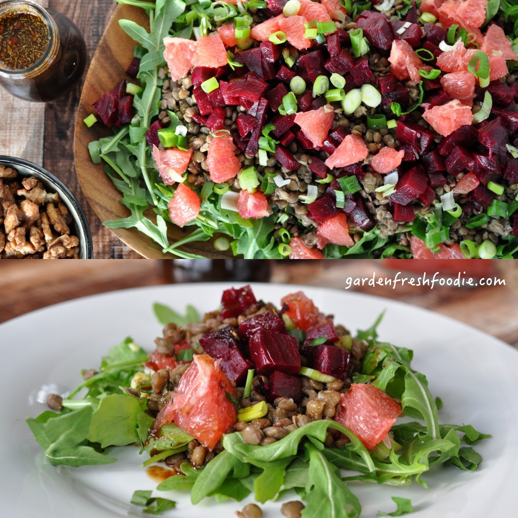 Lentil Salad With OIl Free Balsamic Dressing Collage