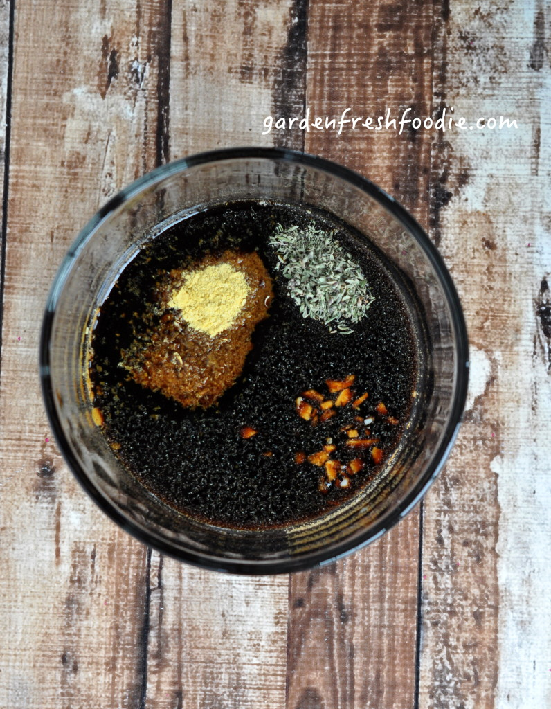 Mixing Ingredients For Oil Free Balsamic Vinaigrette Dressing