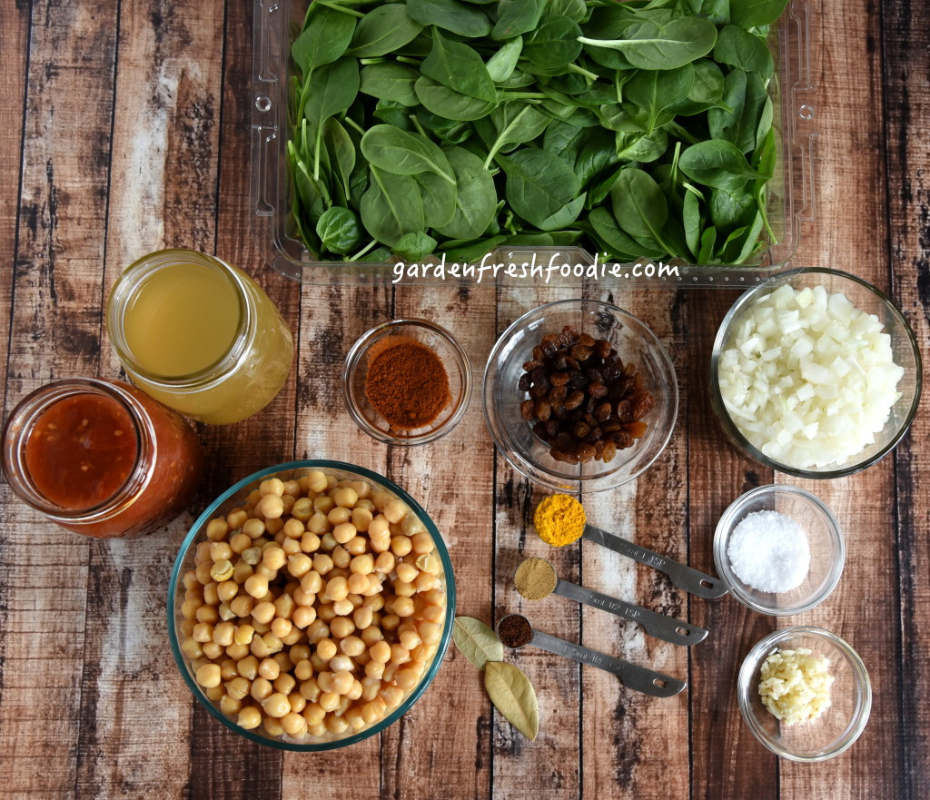 Chickpea Spanish Stew Mise En Place
