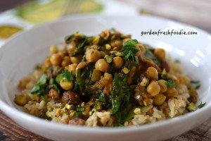 Chickpea Spanish Stew Rice Bowl