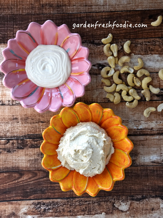 Cashew Sour Cream and Cashew Cream Cheese