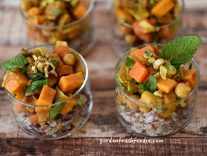 Moroccan Chickpea Tangine With Pomegrante Quinoa Appetizers