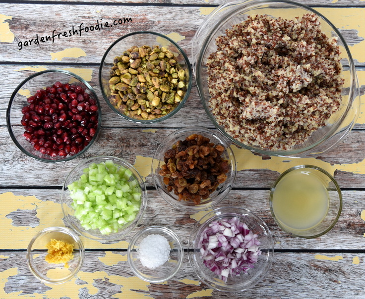 Pomegranate Quinoa Salad Mise En Place