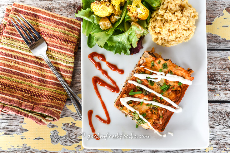 Black Bean Enchilada Dinner With Cashew Sour Cream