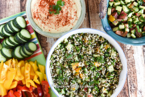 Buckwheat Tabbouleh With Hummus, & Israeli Salad